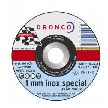 Dronco AS60T INOX 6900945 Tarcza tnąca prosta 125