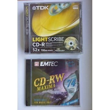 Płyta CD-R TDK light scribe 4szt + EMTEC CD-RW 74