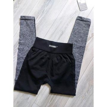Gymshark legginsy Flex  V3 Black Marl/Charcoal 36