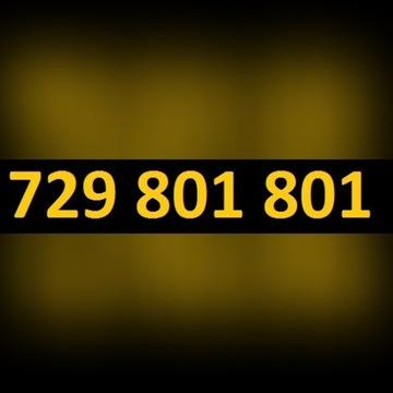 """WYJĄTKOWY 729 801 801 - """"ZŁOTY NUMER"""" - łatwy"""
