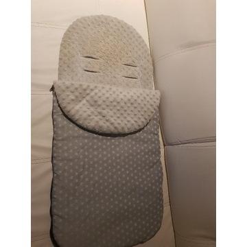 Śpiworek do wózka, samej i mufka z wełną