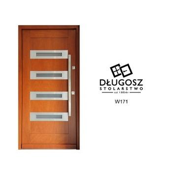 Drzwi Zewnętrzne Drewniane Ocieplane nowoczesne