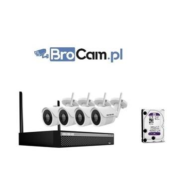 Zestaw 4 kamer (4-16) 2mpx FullHD Monitoring domu