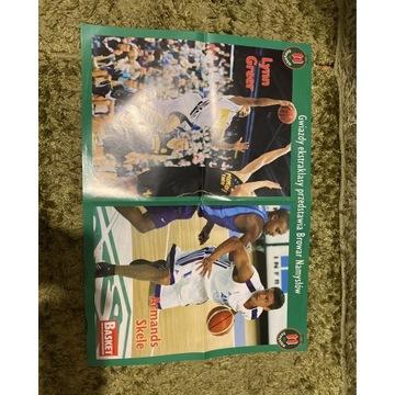 Plakat koszykówka 54x38 gwiazdy ekstraklasy