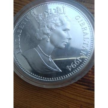 Moneta srebna 70 ecus 1994 giblartar