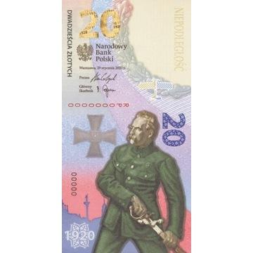 20 zł banknot z 2020  Bitwa Warszawska .
