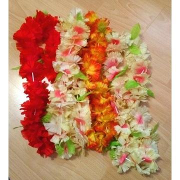 Naszyjnik hawajski, kwiaty, dekoracja (4 sztuki)