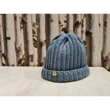 Śliczna czapka 100% merino