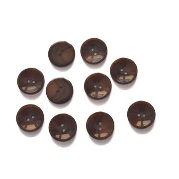 Guziki brązowy, 23mm, 10szt
