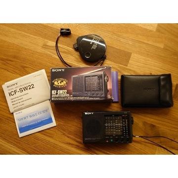 Sony radio globalne ICF-SW 22 Nowe 1993 Unikat