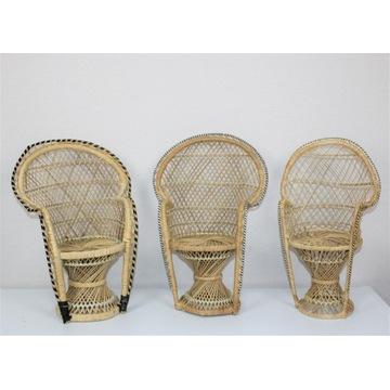 Miniatura fotela peacock, lata 70
