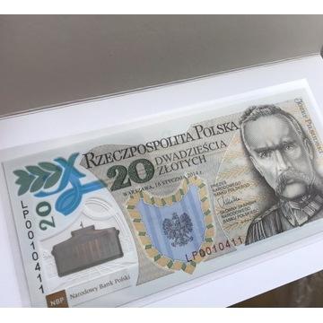 20 ZŁ BANKNOT 100 ROCZNICA UTWORZENIA LEGIONÓW