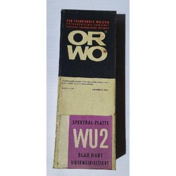 klisza szklana ORWO WU2 spektral-plate