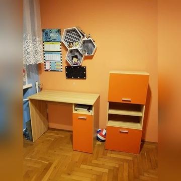 Biurko i szafka-zestaw