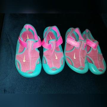 NIKE sandałki dla dziewczynki 2 PARY r. 30