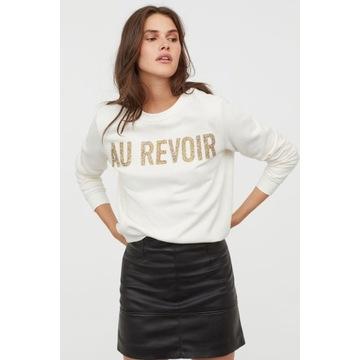 Nowa Bluza H&M ze złotymi cyrkoniami ciepła XL