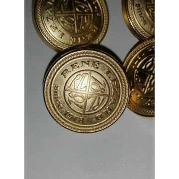 Guziki metalowe złote Rene Lezard -700 szt