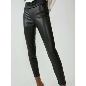 (38/M) ZARA/Skórzane legginsy/spodnie/rurki/NOWE