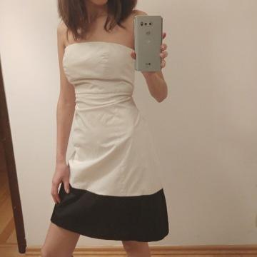 Sukienka biała xs/s bez ramion