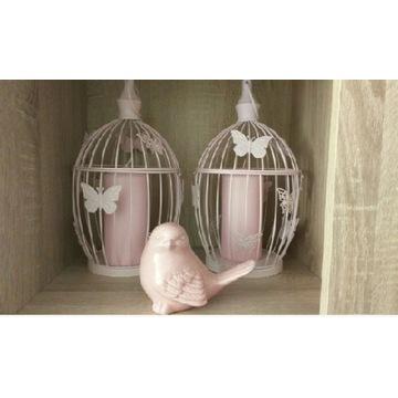 Klatka dekoracyjna 43 CM+Świeczka i ptaszek gratis