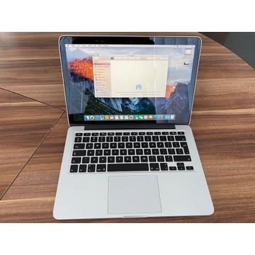 Macbook pro 13 retina a1502,  uszkodzony ekran