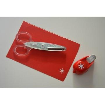 Nożyczki kreatywne dpCraft, dziurkacz ozdobny