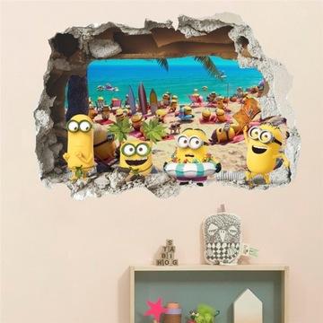 Naklejki na ścianę Minionki