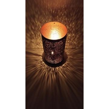 Lampion latarenka świecznik metalowy 20cm
