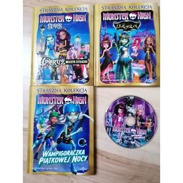 Monster High bajki dla dzieci DVD 4 szt
