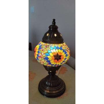 Lampka stojąca turecka mozaikowa