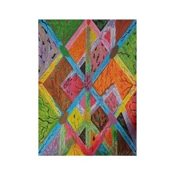 Obraz nowoczesny sztuka pop art abstrakcja folk