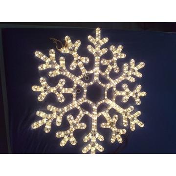 Oświetlenie  dekoracyjne  śnieżynka ok 70 cm.