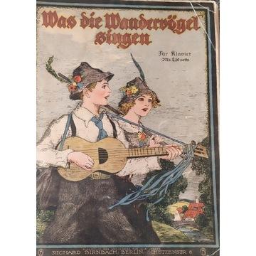 Niemiecki śpiewnik z nutami