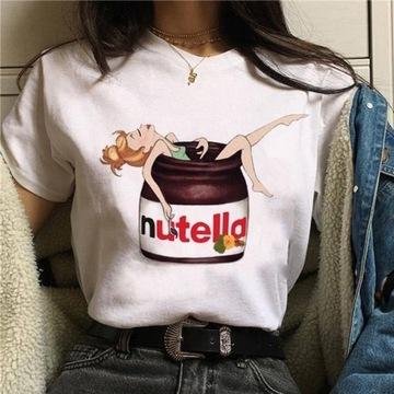 Nutella kawaii t- shirt z krótkim rękawem
