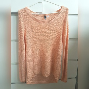 Brzoskwiniowy sweter H&M Divided S