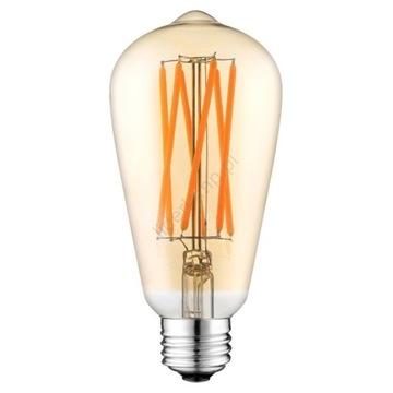 LED Żarówka LEDSTAR AMBER ST64 E27/10W/230V 2200K