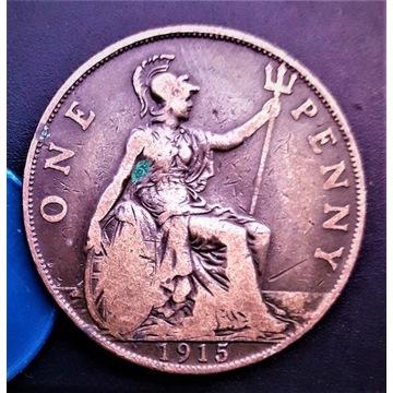 One Penny  1915. ANGLIA. Stan AU-55.  NR-72