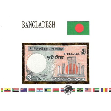 Koperta z banknotem Bangladesz
