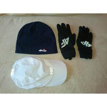 Rękawiczki do biegania +czapka ellesse+czapeczka