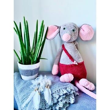 RĘKODZIEŁO Prezent dla dzieci Maskotka Mysz 60cm