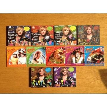 Audiobooki Astrid Lindgren zestaw 6+5 płyt GRATIS