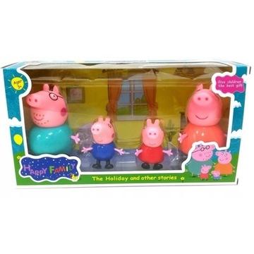Figurki Świnka Peppa 4 szt. ZESTAW Rodzina