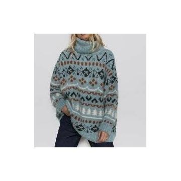 Żakardowy sweter zara r M
