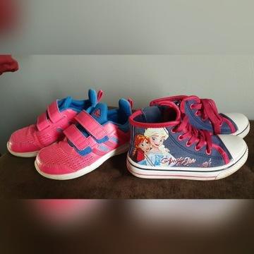 Buty Adidas i z Elzą 2 pary r.27