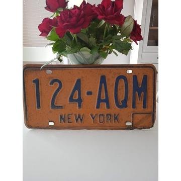 TABLICA REJESTRACYJNA NEW YORK