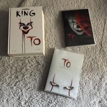Stephen King To It książka + 2x DVD rozdział 1 i 2