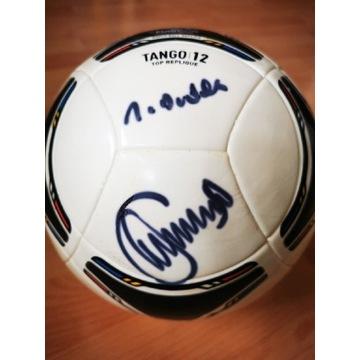 Jerzy Dudek autograf Adidas Tango Euro 2012