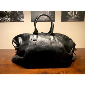 Polo Ralph Lauren skorzana torba podrozna czarna