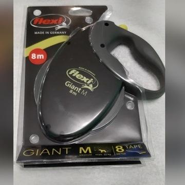 Nowa Smycz Flexi Giant M 8m do 25 kg Neon Taśma