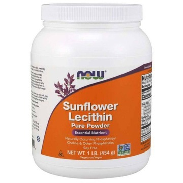 NOW FOODS Sunflower Lecithin Powder Lecytyna 454g